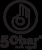 logo 50 bar - 50 Bar 50 Bar textiles Pet recyclé et Coton recyclé, t-shirt en matériaux recyclés, casquettes, porte-clés, etc.