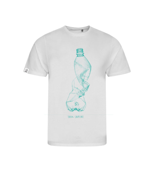t-shirt captive plongée profonde devant - 50 Bar 50 Bar textiles Pet recyclé et Coton recyclé, t-shirt en matériaux recyclés, casquettes, porte-clés, etc.